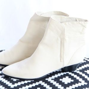 Vintage Mister Shoes White Booties Boots 10